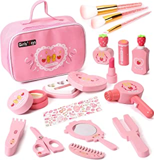 Tacobear Kids Makeup Kit for Girl Pretend Play Makeup Set Wooden Toys Christmas Birthday Gifts for 3 4 5 6 7 8 Years Old T...