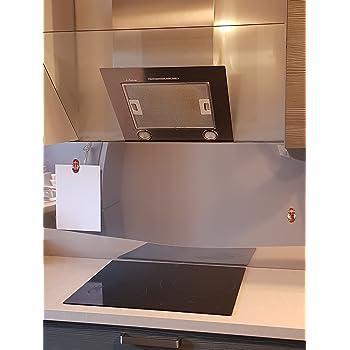 alucouleur Hood 55/cm//Aluminium blanc-mat-10/Upstand/ /Size X Blanc Pure Ral 9010 Longueur 50 cm