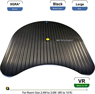 ProxiMat | SGRA* | Black | Large| Virtual Reality Chaperone Safety Mat Standing 8' to 10' Room Scale for HTC Vive, Oculus Rift, Playstation VR PSVR, TPCast, DisplayLink,