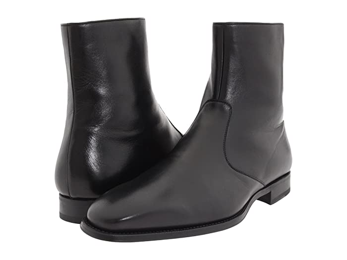 Mens Retro Shoes | Vintage Shoes & Boots Magnanni Donosti Black Mens Dress Zip Boots $245.00 AT vintagedancer.com