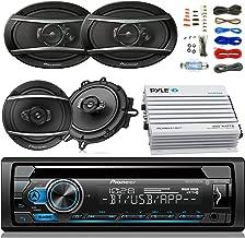Pioneer DEH-S4100BT Car Bluetooth Radio USB AUX CD Player Receiver - Bundle With 2x TSA1670F 6.5