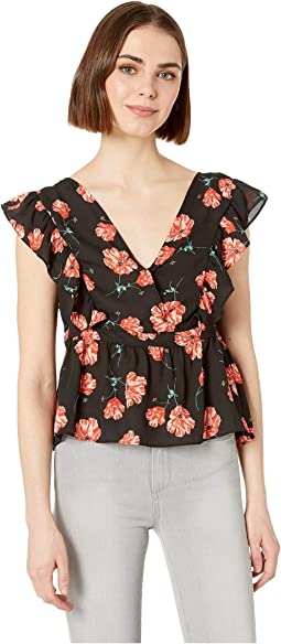 Poppy Love Printed Sleeve Tank Top