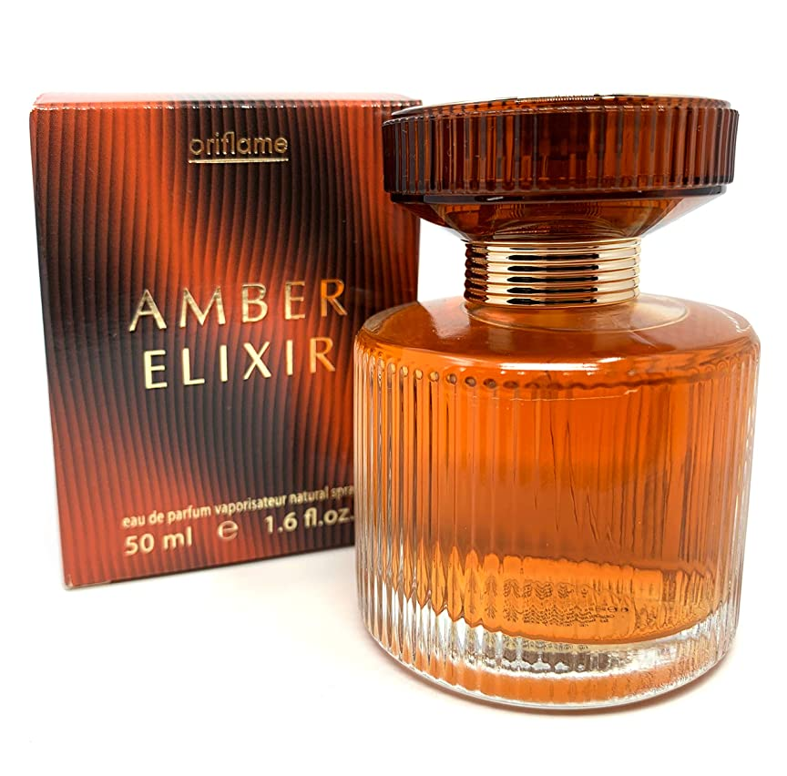 硬さ伝導率前任者ORIFLAME Amber Elixir Eau De Parfum Natural Spray 50ml - 1.6oz