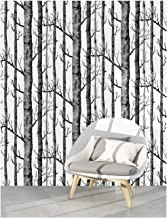 HaokHome 97012 Peel and Stick Wallpaper Birch Tree Wood Grain Contact Paper 17.7