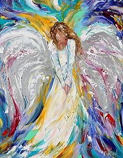 Angel Art print - Guardian Angel - Karen Tarlton, 8x10, 16x20, 20x24, 24x30 inches