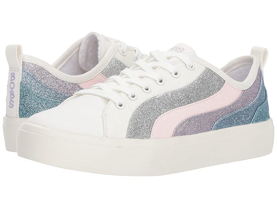 BOBS from SKECHERS Bobs Cloudy Glitter Chaser (White/Multi) Women