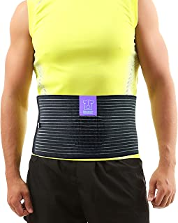 Umbilical Navel Hernia Belt - Abdominal Binder Hernia Support - Incisional and Ventral Hernia Support for Men and Women - Epigastric Hernia Belt with Compression Pad - Standard (24-38 in)