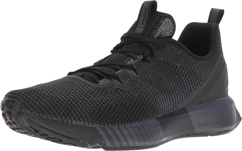 Rödbok herrar Fusion Flexweve springaning skor, skor, skor, svart  Ash grå  Coal  vit, 9.5 M USA  sälja som heta kakor