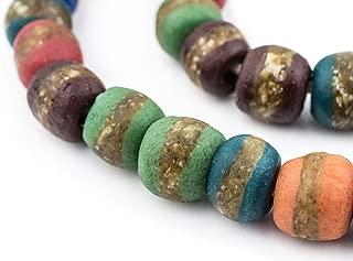 African Kente Beads - Full Strand of Krobo Glass Beads - The Bead Chest (Medley)