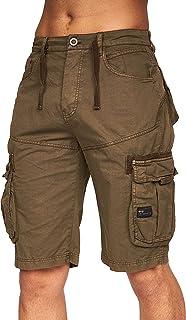 Crosshatch Mens Chinos Casual Cargo Combat Shorts Cotton Summer Knee lengthPant(40,Khaki-CH)