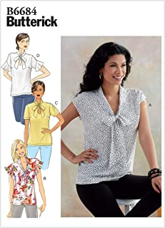 Butterick B6684A5 Easy Women's Pullover Blouse Sewing Patterns، المقاسات 6-14