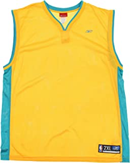 New Orleans Hornets NBA Mens Retro Blank Jersey, Gold