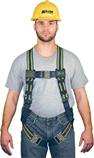 Miller by Honeywell E650QC/S/MGN DuraFlex Ultra Stretchable 650 Series Full-Body Harness with Quick-Connect Buckles, Small/Medium, Green