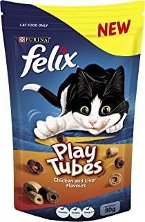 Felix Play Tubes Chicken & Liver Cat Treats, 50g