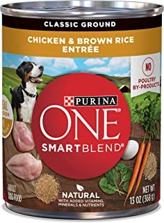Purina ONE Natural Pate Wet Dog Food, SmartBlend Chicken & Brown Rice Entree –..