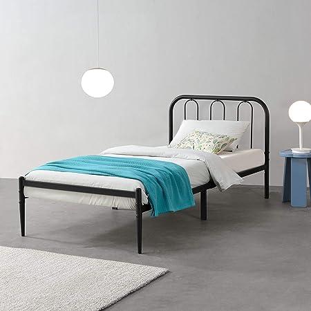 en.casa] Cama de Metal con Somier 200 x 90 cm Cama Simple ...