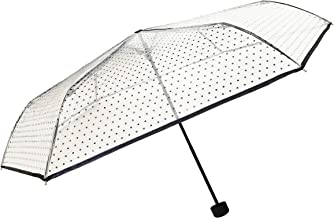 SMATI Mini Foldable Umbrella Clear Dome See Through Windproof