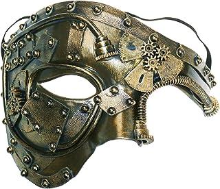 fbd6790f6 Coddsmz Máscara de Disfraces Steampunk Phantom of The Opera Máscara de  Fiesta Veneciana mecánica