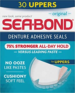Sea Bond Secure Denture Adhesive Seals, Original Uppers, 30 Count