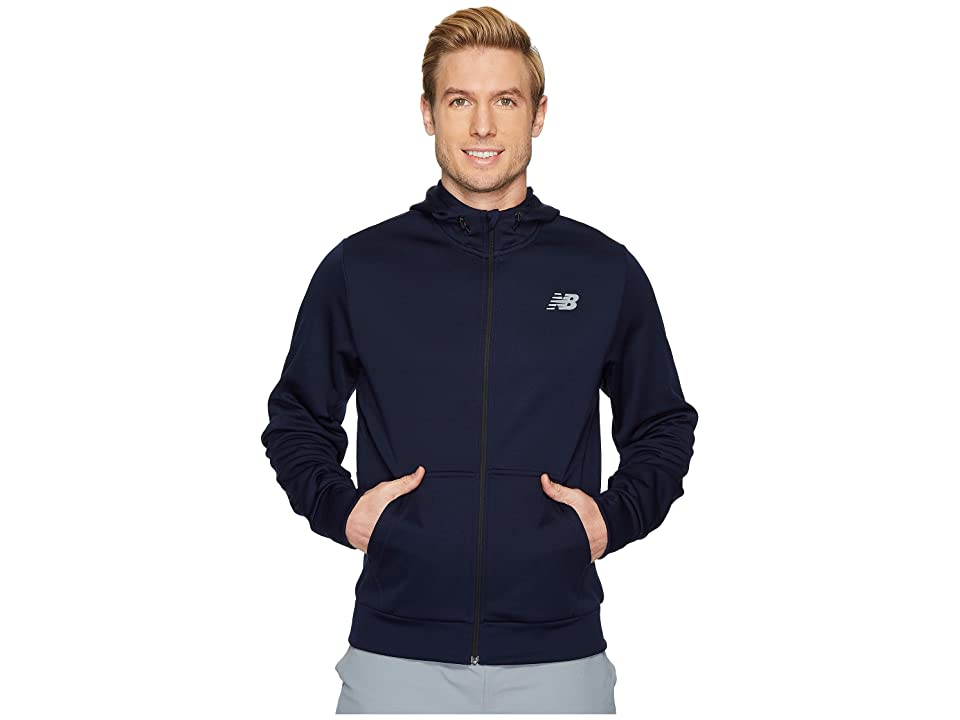 New Balance NB Corefleece Full Zip Hoodie (Pigment) Men