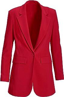 Boston Proper - Beyond Travel - Women's One Button Knit Boyfriend Blazer
