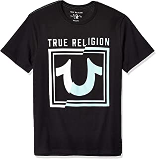 True Religion Men's Splice Western U Ss Crew Neck