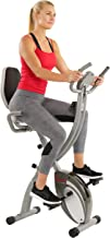 Sunny Health & Fitness Comfort XL Ultra Cushioned Seat Folding Exercise Bike with Device Holder