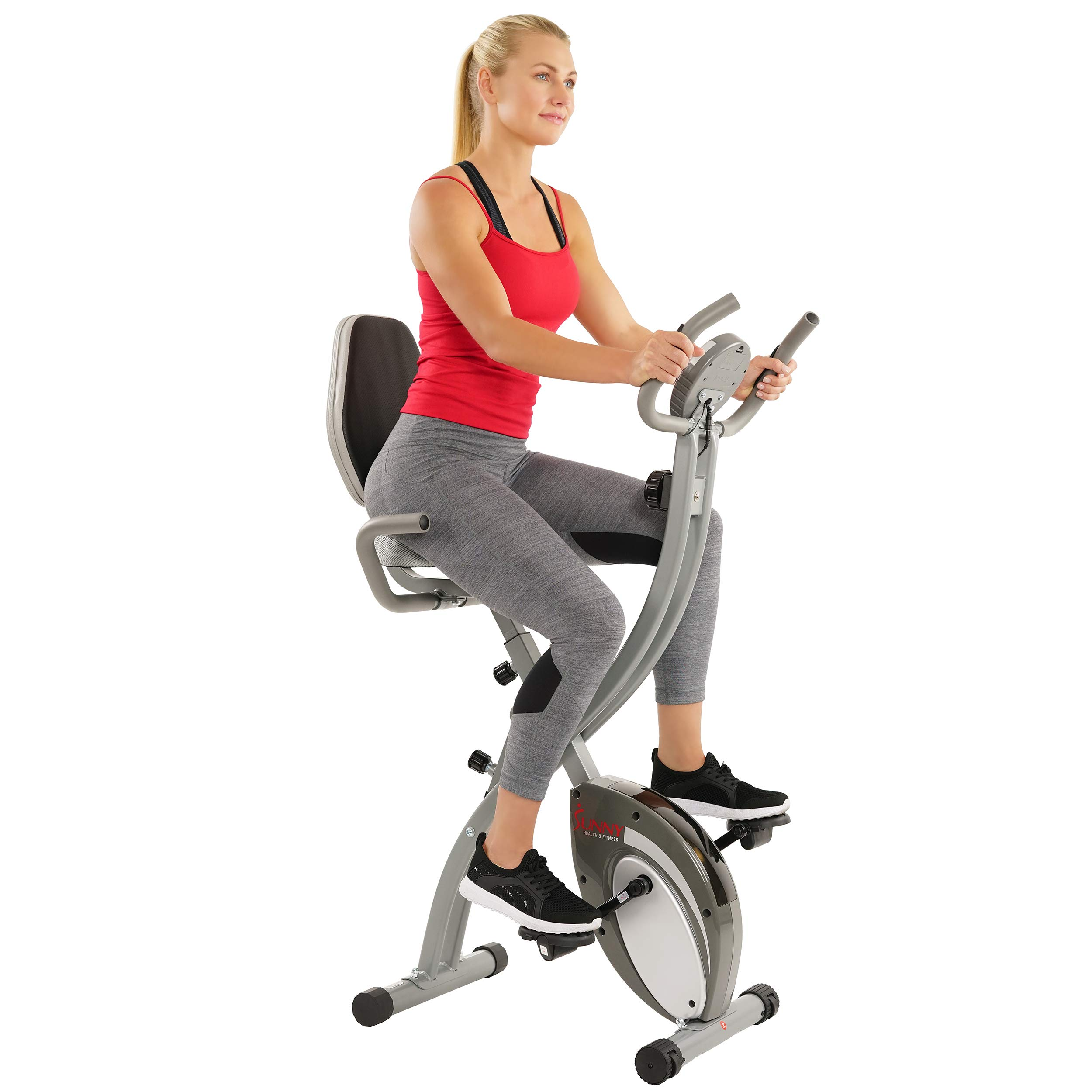 Sunny Health Fitness Recumbent Monitoring