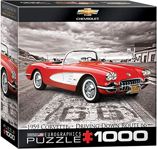 Eurographics 1959 Corvette on Route 66 Puzzle (1000 Teile)