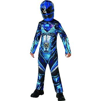 Power Rangers - Disfraz Ranger Azul Deluxe para niños, 3-4 años ...