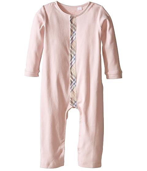 Burberry Kids Check Trim Cotton Jumpsuit (Infant/Toddler)