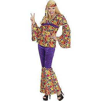 WIDMANN Das Kostümland - Disfraz de hippie años 60s para mujer ...