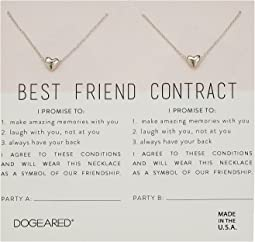 Best Friend Contract, Set of 2 Heart Bead Necklaces