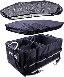 Drivaid Organizador Maletero Coche, Bolsa Maletero Coche Impermeable con Velcro, Antideslizante, Varios Compartimentos, Caja Maletero Coche Plegable, Negro