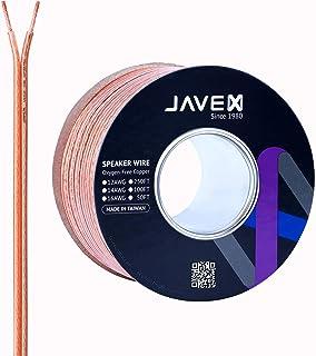 12ゲージ AWG JAVEX スピーカーワイヤー OFC 無酸素銅99.9%ケーブル Hi-Fiシステム ミキサー アンプ AVレシーバー ホームシアター サブウーファー サウンドバー 100フィート