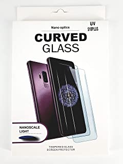 Glass screen protector with nano liquid and UV device for mobile S10 plus from glass