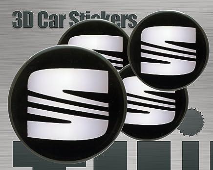 4x solo adesivo 56mm BBS Nero//Argento ruota centro CAP Logo Adesivo 3D