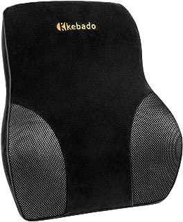 kebado Upgraded Version - Premium Lumbar Pillow Support for Car - Full Lumbar Back Support - Two Straps Office Chair Black Car Lumbar Support - Memory Foam Orthopedic Back - Lumbar Support Cushion