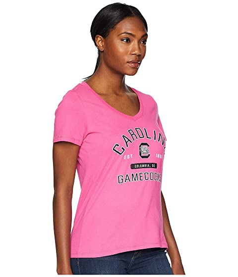 Pink v Champion University College con South en Gamecocks Camiseta Carolina Wow cuello rrTPwzIqx