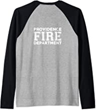 Providence Fire Rescue Rhode Island Firefighter Uniform Duty Raglan Baseball Tee