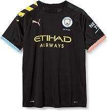 PUMA MCFC Away Shirt Replica SS Jr with Sponsor Logo Maillot, Unisex niños