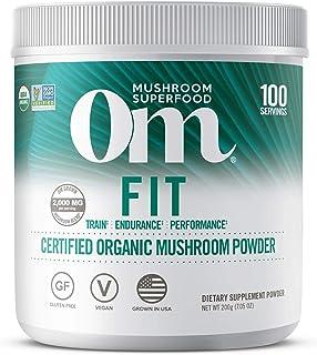 Om Organic Mushroom Superfood Powder, Fit: Energy, 7.05 Ounce (Pack of 1), Cordyceps & Reishi, Peak Performance Support Su...