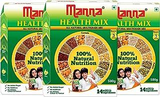 Manna Millet Health Mix 1.5Kg ( 500g X 3 Packs) | Sathu Maavu for Babies | 100% Natural Millet Multigrain Nutrition Drink ...
