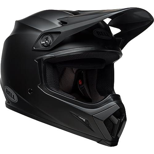 f78729de Bell MX-9 MIPS Equipped Motorcycle Helmet (Solid Matte Black, Medium)