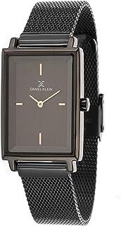 Daniel Klein Premium Alloy Case Mesh Band Ladies Wrist Watch DK.1.12469 6, black
