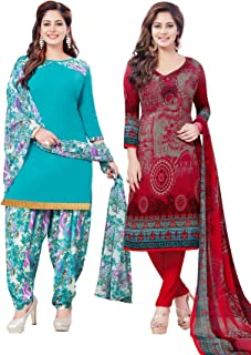 Salwar Studio Women's Pack of 2 Synthetic Unstitched Dress Material Combo-MONSOON-2159-2160