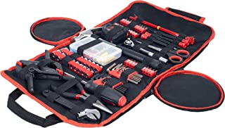 Household Hand Tools, 86 Piece Tool Set With Roll-Up Bag by Stalwart, (Hammer, Wrench..