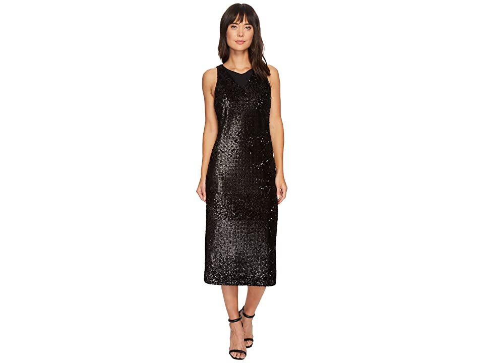 NIC+ZOE Nights Shimmer Dress (Black Onyx) Women