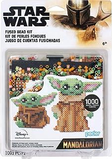Perler 80-63090 Mandalorian Baby Yoda Star Wars bezpiecznik koralik blister zestaw, 1004 szt