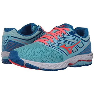 Mizuno Wave Shadow (Blue Topaz/Fiery Coral/Imperial Blue) Girls Shoes